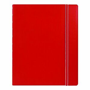 Filofax Refillable Notebook Classic 10 8 X 8 5 Red Elegant Leather l New