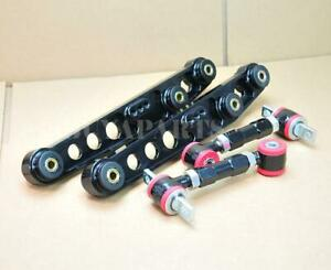 G2 Black Rear Lower Control Arm Adjustable Camber Kit For 1994 2001 Integra