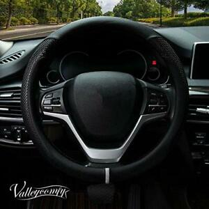 Valleycomfy Steering Wheel Cover With Microfiber Leather For Suv 15 Inch