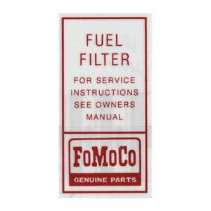 Fuel Pump Filter Decal 1960 1966 Ford