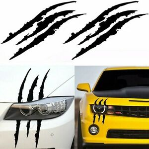 Headlight Claw Scar Scratch Monster Stripe Decals Camaro Dodge Charger Sticker