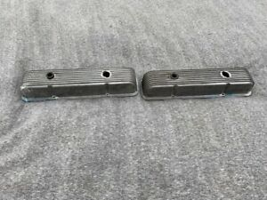 1960s Vintage Cal Custom 9 Fin Small Block Chevrolet Tall Valve Covers 40 2300