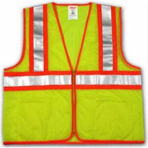 V70642 l xl Ii Safety Vest Large Extra Large Polyester Lime Yellow