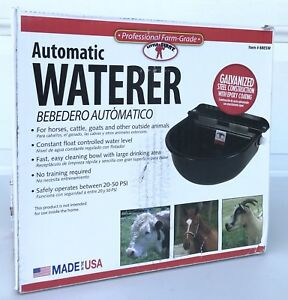 Little Giant Epoxy Coated Steel Automatic Stock Waterer Black Watering Supplies