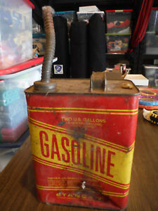 Vintage Stancan 2 Gallon Gas Gasoline Can 10 5 Height To Edge