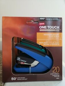 4 Staples One Touch Plus Staplers 2 Green 2 Blue