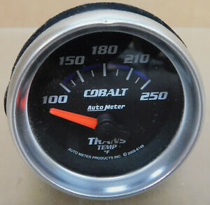 Auto Meter 6149 Cobalt Trans Temp Gauge 100 250 Degreesi Electrical 2 1 16
