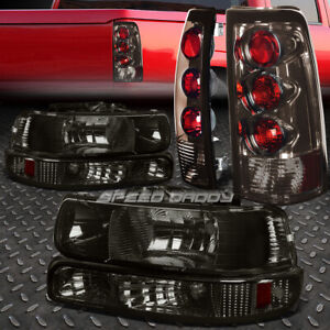 Smoke Amber Bumper Headlight altezza Rear Tail Light For 99 02 Chevy Silverado