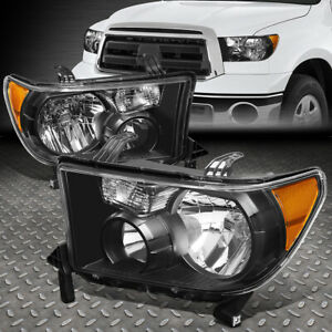 For 07 13 Toyota Tundra 08 17 Sequoia Black Housing Amber Corner Headlight Lamp