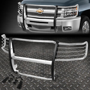 For 07 13 Chevy Silverado 1500 Stainless Steel Front Bumper Grille Brush Guard