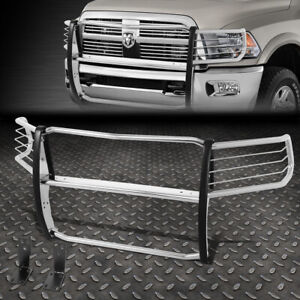 For 10 18 Ram Truck 2500 3500 Stainless Steel Front Bumper Grille Brush Guard