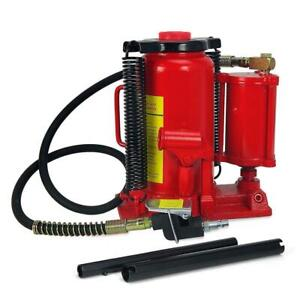 20 Ton Air Hydraulic Bottle Jack Heavy Duty Truck Lift Repair Tools Red