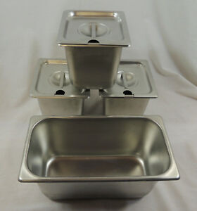 Lot Of 4 Vollrath Stainless Steel Steam Table Pans