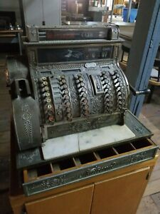 National Brass Cash Register Fully Functional