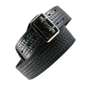 Boston Leather 6501 3 44 Black Basketweave Lined 2 25 Sam Browne Duty Belt