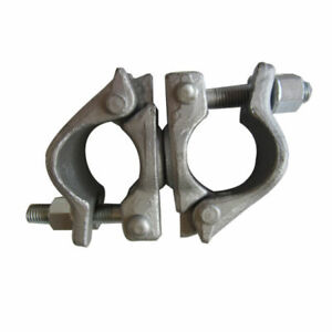 Lot Of 8 Forged Galvanized 2 Scaffold pipe Swivel Clamps