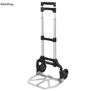 Cart Folding Dolly Collapsible Trolley Push Hand Truck Moving Warehouse 150lbs