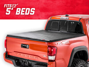 Rough Country Soft Tri fold Fits 2016 2019 Toyota Tacoma 5 Ft Bed Tonneau Cover