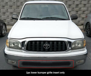 Fits 2001 2004 Toyota Tacoma 2wd Lower Bumper Stainless Black Mesh Grille Insert