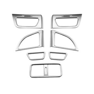 7 Pcs Abs Matte Front Board Ac Air Vent Frame Interior Fit For Honda Cr v 12 16
