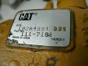 Caterpiller Loader 2 Spool Hydraulic Valve Cat 111 7186 Sn C02a4994 Used