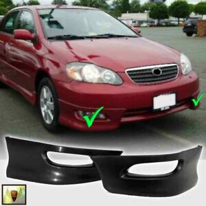 Fits For 2005 2008 Toyota Corolla Front Bumper Lips Pair Set Lh Rh