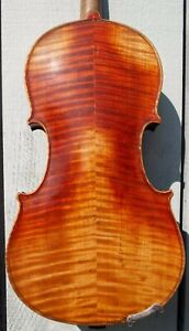 Old Vintage Antique 4 4 Violin Reconstructed By George A Yeary In 1944 1319