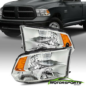 anti fog 2009 2018 Dodge Ram 1500 2500 3500 Chrome Quad Headlights