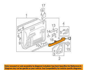 Honda Oem 03 06 Element arm Rest Right 83533scva01za