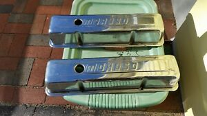 Moroso Chevy Chrome Steel Valve Covers Tall Style Sbc