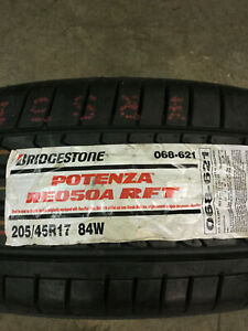 2 New 205 45 17 Bridgestone Potenza Re050a Rft Run Flat Tires