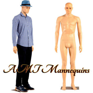 Male Mannequin rotated Head full Body Skin Tone Standing Manikin ym3 f 1wig y44