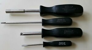 Free Shipping Lot Of 4 Snap On Screwdrivers Spp46 More Tools Cap Is Missing