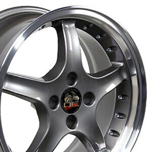 Oew Fits 17 Wheel Ford Mustang 4lug Cobra R Dd Rivets Anthracite17x8