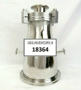 Plasma therm Conical Vacuum Reducer Tee Iso160 To Iso100 Nw50 Nw16 Clusterlock