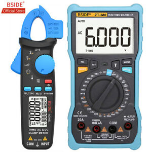 Bside Dc ac Clamp Meter With Smart Digital Multimeter Trms Square Wave Dmm Tools