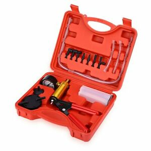 Car Vacuum Pistol Break Bleeder Fluid Reservoir Tester Tool Hand Held Kit Auto