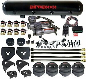 C10 Suspension 4 Link Air Compressors Am400 Bags 1 2 Valves Clear 9 Switch Box