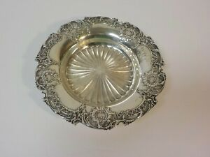 Antique Whiting Sterling Silver Wine Bottle Coaster Dish 145 Grams