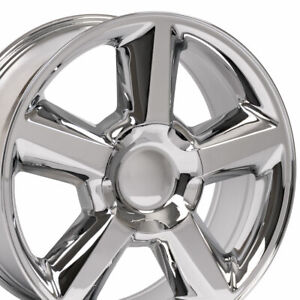 20 Chrome Wheels Set For Tahoe Chevy Silverado Suburban Gmc Yukon Rims Set 4