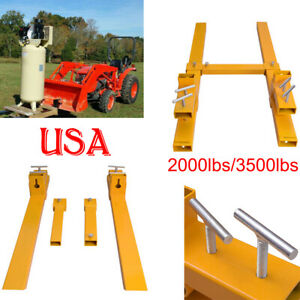 2019 Pro 2000lbs 3500lbs Clamp On Pallet Forks Loader Bucket Tractor Chain Us
