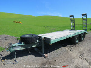 2008 Terex Load King M322lt 19 Utility Military Equipment Trailer T a 20k Lb