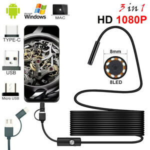 Hd 1080p Inspection Camera Usb Type c Endoscope Borescope For Android Phone