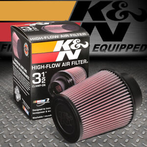 K n Re 0950 Clamp on Round Tapered Cotton Gauze 3 5 id Air Intake Piping Filter