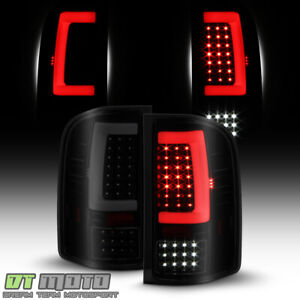 Black Smoke 2007 2013 Chevy Silverado 1500 Sequentia Led Tube Tail Lights Lamps