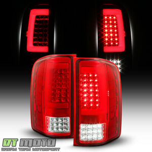 2007 2013 Chevy Silverado 1500 2500 Sequentia Led Tube Tail Lights Brake Lamps
