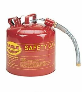 Gas Can 5 Gal Flammable Safety Storage Portable Fuel Refill Dispenser Container