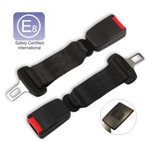 2pcs 14in Car Seat Belt Safety Extender Extension 7 8 Buckle E4 Safety Certified