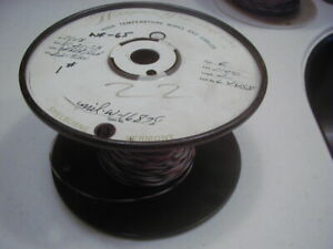Wr 65 22 Ptfe Teflon Insulated Wire Stranded Silver Plated Copper 225 Ft Nos