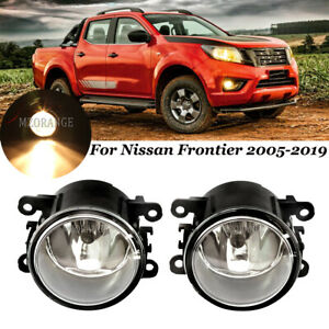 Front Bumper Fog Light Lamp For Nissan Frontier 2005 2019 Clear Lens Replacement